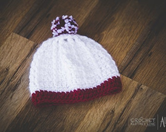 Ribbed Winter Hat with Pom Pom