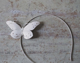 Hairband with silver Butterfly