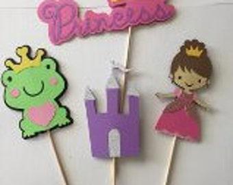 Princess centerpiece-Princess cake topper