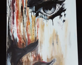 ORIGINAL Painting - Abstract Eye - Painted with Acrylic