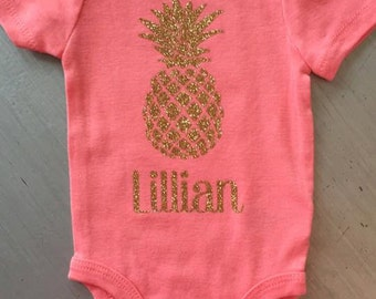Personalized Pineapple Onesie