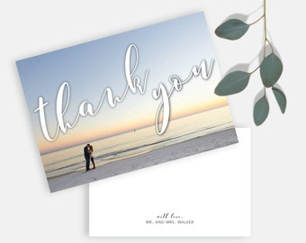 Simple Suite, Horizontal Thank You Notecard