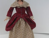 Barbie Doll Colonial Style Dress