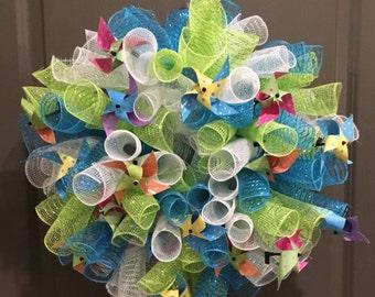 Summer Pinwheel Wreath