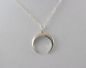 20% Off Sterling Silver Crescent Moon Charm Necklace BP4045