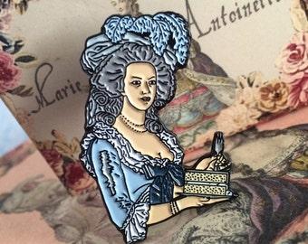 """Marie Antoinette """"Let Them Eat Cake"""" Enamel Pin // Lapel Pin // Pins // Marie Antoinette // Cake // Pastry // Chef // Rococo"""