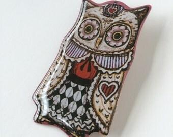 Owl King  brooch, pin