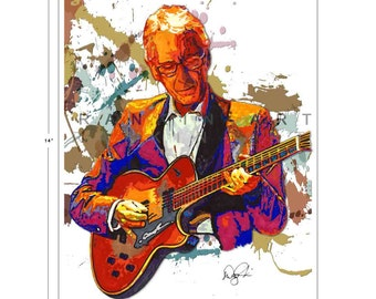 Pat Martino, Bebop Jazz, 11x14 in, 29x36 cm, Signed Art Print w/ COA