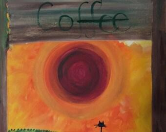 Stray Cat Coffee - Acrylic