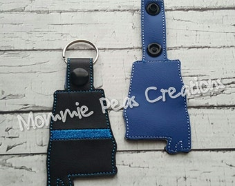 Alabama Blue Line Support Key fob/zipper pull