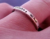 I Will Never Forget Who I Am Inspirational Silver Ring