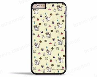 Cute iPhone 7 Case Geeky Science Cat Nerdy Cat Cute Gift Ideas Samsung Galaxy S7 Case iPhone 6s Case
