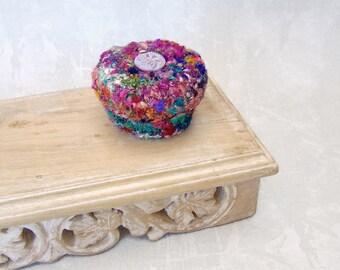 Nebula Star Treasure Box - Rainbow Silk Tapestry Trinket Jewelry Holder - Unique HandMade Shelf Decor - Home Decor Gift for Dreamer STB077