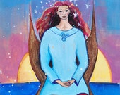 Celtic Goddess Art - Mor, Goddess of Sun and Sea
