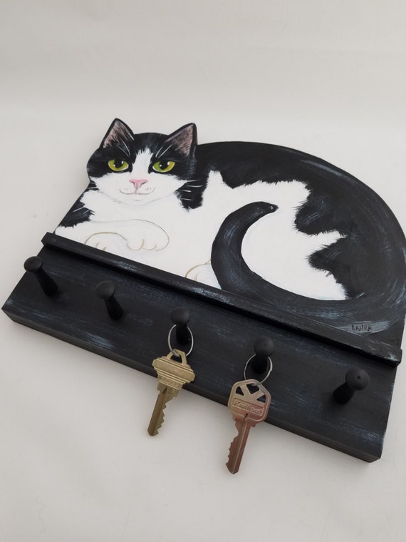 Items Similar To Key Holder Tuxedo Cat Key Rack Key