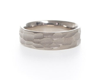 Woodcut Wedding Band