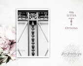 Last Name Picture Frames | Thank You Sign | Hostess Framed Gift | Inexpensive Teacher Gift for Her | Framed Letter Art | Letter T Photo