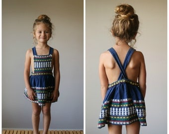 1960s Embroidered Sundress~Size 2t/3t/4t