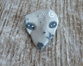 Beach Stone Wolf, with Spiral and Dots