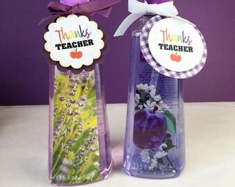 Thanks Teacher Tags / Teacher Appreciation Gifts / Gifts for Teacher /Teacher Gift Ideas / Paper Tags