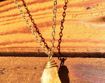 Citrine gold stone pendant with or with necklace chain