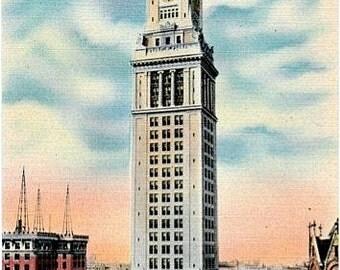 Vintage Boston Postcard - The Custom House Tower (Unused)
