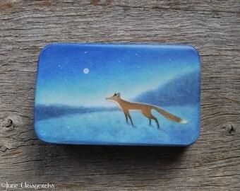 Fox - Original Painting on Wood