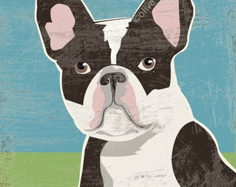 French bulldog LARGE fine art reproduction print
