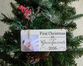 First Christmas As Grandparents Rustic Christmas Ornament Grandparents Christmas Ornament New Grandparents Ornament New Parents Ornament