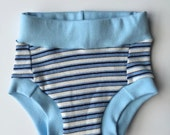 SECONDS - Convertible Cloth Potty Training Pants - XS Blue Stripe