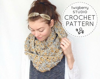 Crochet Scarf PATTERN Chunky Infinity Pattern Crochet Cowl Pattern Chunky Scarf Pattern Cowl Pattern Chunky Scarf Crochet Pattern Infinity