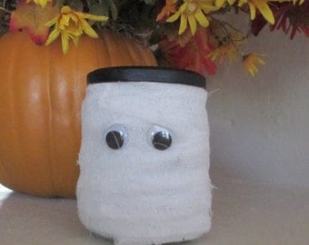 Halloween Mummy Jar -- Halloween Decor - Halloween Decoration