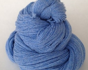 light Blue, 400 yards,  Pure cashmere sport weight yarn, up-cycled cashmere sweater