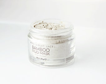 Bamboo Mud Mask   Clay Mask for All Skin Types - Dry Skin, Oily Skin, Combination Skin   100% natural & vegan - TRAVEL SIZE