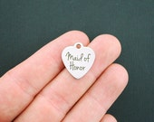 Maid of Honor Stainless Steel Charm - Exclusive Line - Quantity Options - BFS1082