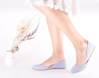 Blue Bridal Ballet Flats | Wedding Shoes | Summer Pumps | Something Blue | Accessories | Sky Blue.....Ready to Ship!