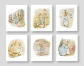 Peter Rabbit Wall Decor - Beatrix Potter Nursery - Baby Boy or Girl Storybook Nursery - Girl Bedroom Art - Tales of Peter Rabbit (PR-001)