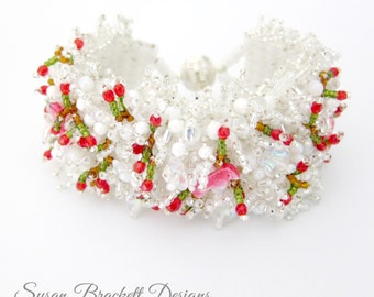 Snow Birds Beaded Bracelet