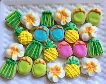 5 Dozen Luau themed Cookie Nibbles