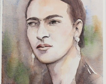 Frida Watercolor Original 6in x 7.25in