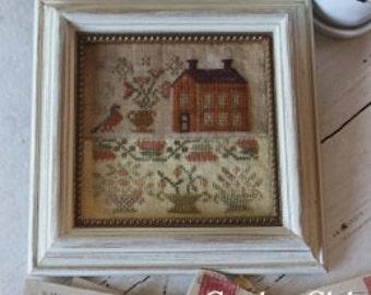 NEW All in a Row Garden Club Series #12 cross stitch patterns by Blackbird Designs at cottageneedle.com Autumn