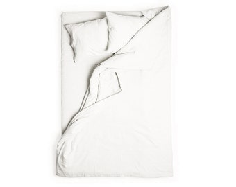 White linen duvet cover Queen bedding King duvet Full size duvet covers Natural washed linen bed linens