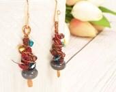 Modern Tribal Earrings - Rustic Bohemian Earrings - Boho Bridesmaid Jewelry - Everyday Earrings - Hippie Earrings - Gypsy Earrings
