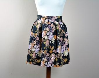 Pleated skirt, Aline skirt, Flower skirt, Mini skirt, women's clothing, pleated mini dress, girly skirt, spring fashion, printed skirt