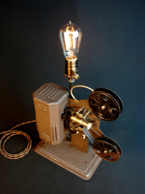 Table Lamp Upcycled Vintage Projector Lamp