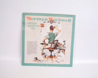 Vintage Norman Rockwell Calendar 1992 Saturday Evening Post 12 Month Calendar