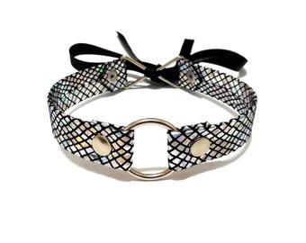 Holographic Choker O Ring Collar
