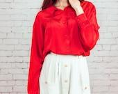 white button down skirt,pocket skirt, 70s skirt,cotton skirt,short skirt mini skirt,medium