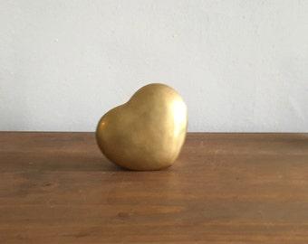 heart shaped box. valentines day mid century gift brass jewelry box. vintage brass gold. boho hollywood regency brass jewelry box.