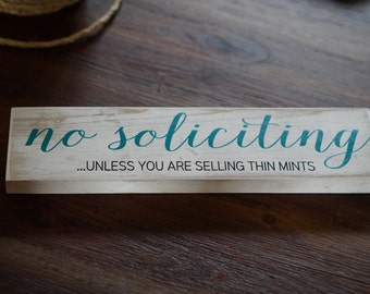 "no solicitation sign - no soliciting - no soliciting door sign - Outdoor - 3"" x 12"""